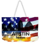 Austin Tx Patriotic Large Cityscape Weekender Tote Bag