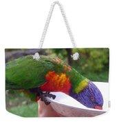 Australia - One Wet Lorikeet Feeding Weekender Tote Bag