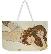 Austria Vienna Female Nude Lying On Her Stomach Weekender Tote Bag