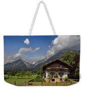Austrian Cottage Weekender Tote Bag by Debra and Dave Vanderlaan