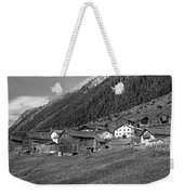 Austrian Village Monochrome Weekender Tote Bag