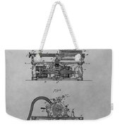 Authentic Thomas Edison Phonograph Patent Weekender Tote Bag