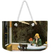 Automat Weekender Tote Bag by Edward Hopper