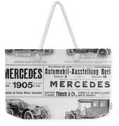 Automobile Ad, 1905 Weekender Tote Bag