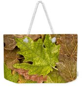 autumm is coming 3 - A carpet of autumn color leaves Weekender Tote Bag