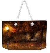 Autumn - A Park Bench Weekender Tote Bag