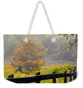 Autumn Along The Fence Weekender Tote Bag
