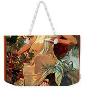 Autumn Weekender Tote Bag by Alphonse Maria Mucha