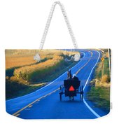 Autumn Amish Buggy Ride Weekender Tote Bag