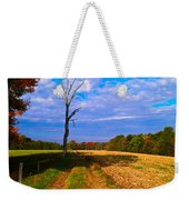Autumn And The Tree Weekender Tote Bag
