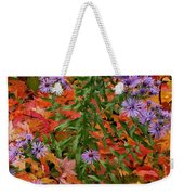 Autumn Asters Weekender Tote Bag