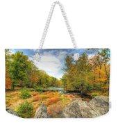 Autumn At The Creek - Green Lane - Pennsylvania - Usa Weekender Tote Bag