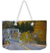 Autumn At Washington's Crossing Bridge Weekender Tote Bag