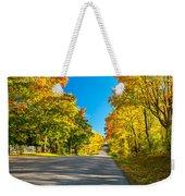 Autumn Back Road Weekender Tote Bag