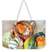 Autumn Basketful Weekender Tote Bag