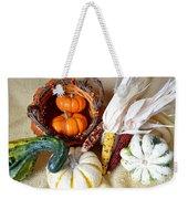Autumn Basketful With Corn Weekender Tote Bag