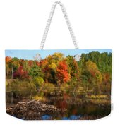 Autumn Beaver Pond Reflections Weekender Tote Bag