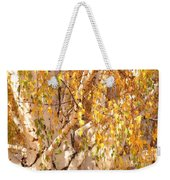 Autumn Birch Leaves Weekender Tote Bag