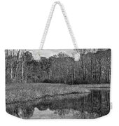 Autumn Black And White Weekender Tote Bag