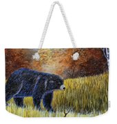 Autumn Black Bear Weekender Tote Bag