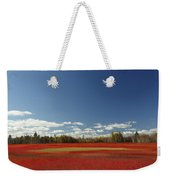 Autumn Blueberry Field Maine Weekender Tote Bag