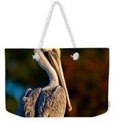Autumn Brown Pelican Weekender Tote Bag