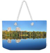 Autumn By The Triangle Lake In Stockholm Weekender Tote Bag