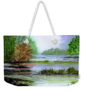 Autumn By The Lake  Weekender Tote Bag