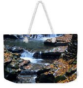 Autumn Cascade Weekender Tote Bag by Frozen in Time Fine Art Photography