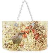Autumn Catbird Weekender Tote Bag