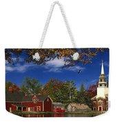 Autumn Church Row Weekender Tote Bag