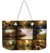 Autumn Collage Weekender Tote Bag