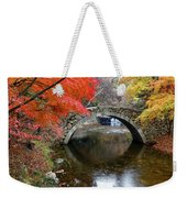 Autumn Color And Old Stone Arched Weekender Tote Bag