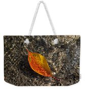 Autumn Colors And Playful Sunlight Patterns - Cherry Leaf Weekender Tote Bag