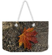 Autumn Colors And Playful Sunlight Patterns - Maple Leaf Weekender Tote Bag