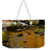 Autumn Colors On Little River Weekender Tote Bag
