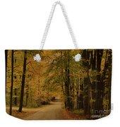 Autumn Country Road Weekender Tote Bag