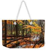 Autumn Creek In The Rain Weekender Tote Bag