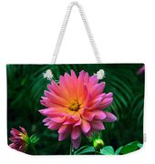 Autumn Dahlias And Palms Weekender Tote Bag