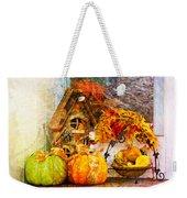 Autumn Display - Pumpkins On A Porch Weekender Tote Bag