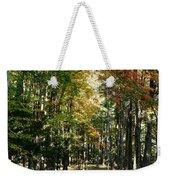 Autumn Drive Weekender Tote Bag
