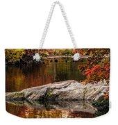 Autumn Duck Couple Weekender Tote Bag