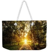 Autumn Fall Park Weekender Tote Bag by Michal Bednarek
