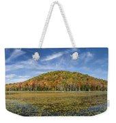 Serene Pond Vermont Autumn Panorama Weekender Tote Bag