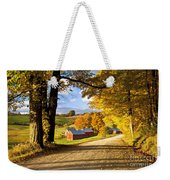 Autumn Farm In Vermont Weekender Tote Bag