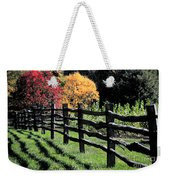 Autumn Fence And Shadows Weekender Tote Bag