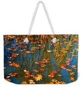 Autumn  Floating Weekender Tote Bag by Peggy Franz
