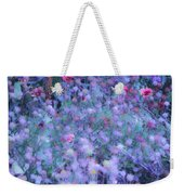 Autumn Flowers In Blue Weekender Tote Bag