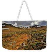 Autumn Foliage And Snowcapped Mountain Weekender Tote Bag