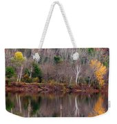 Autumn Foliage River Reflection Weekender Tote Bag